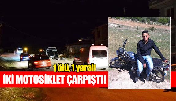 İki motosiklet çarpıştı