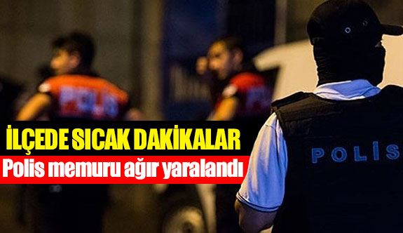 Polis memuru ağır yaralandı