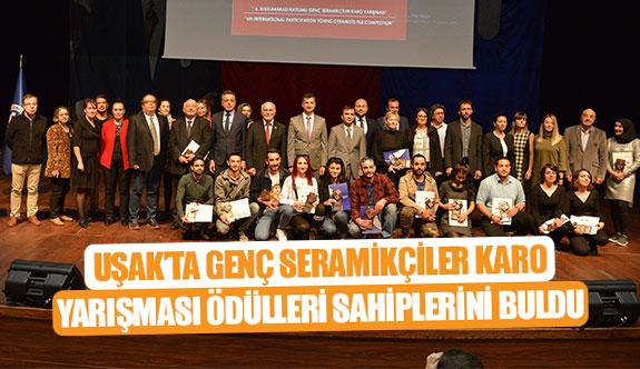 Uşak'ta Genç Seramikçiler Karo Yarışması ödülleri sahiplerini buldu