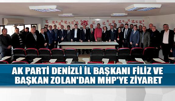 Ak parti denizli il başkanı Filiz ve başkan Zolan'dan MHP'ye ziyaret
