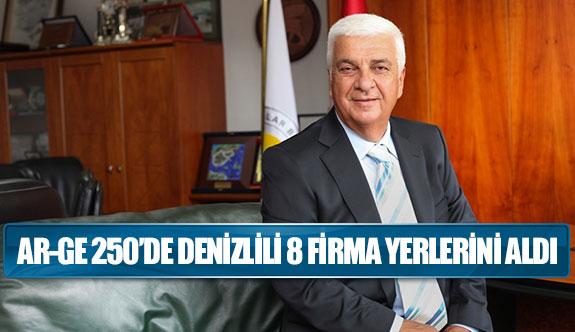 AR-GE 250'DE DENİZLİLİ 8 FİRMA YERLERİNİ ALDI