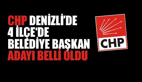 CHP Denizli'de 4 İlçe Belediye Başkan Adayı Belli Oldu