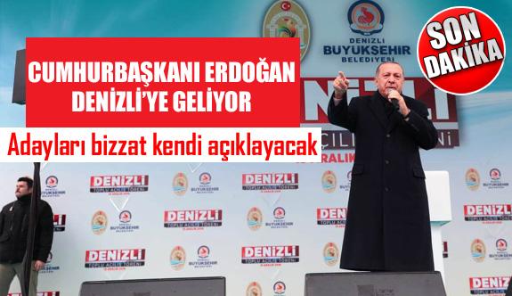 Cumhurbaşkanı Erdoğan, 2. kez Denizli'ye geliyor