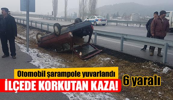 İlçede korkutan kaza!