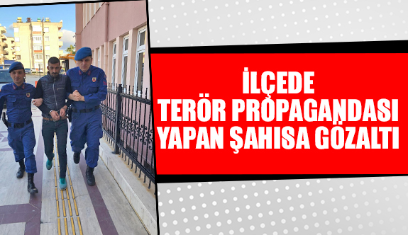 İlçede terör propagandası yapan şahısa gözaltı