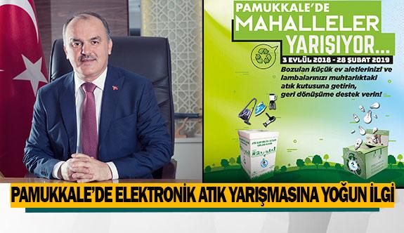 Pamukkale'de Elektronik Atık Yarışmasına Yoğun İlgi
