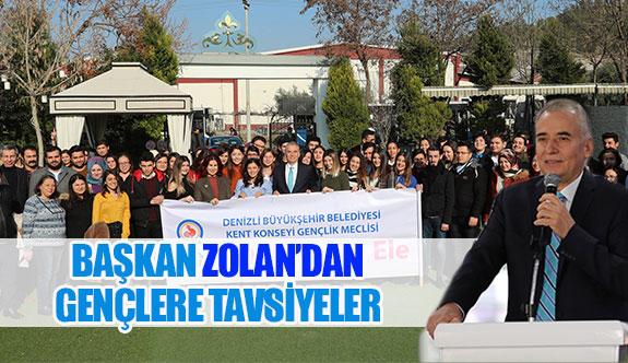 Başkan Zolan'dan gençlere tavsiyeler