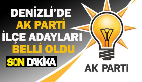 Denizli'de Ak parti ilçe adaylar belli oldu