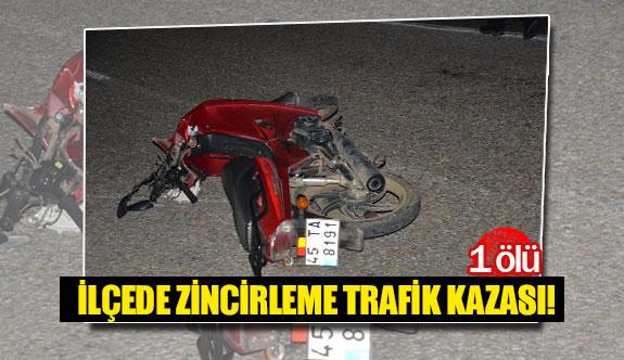 İlçede zincirleme trafik kazası!