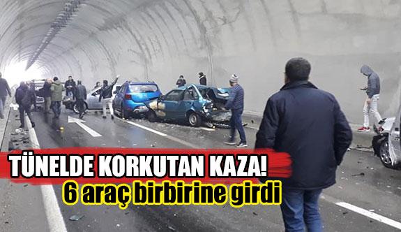 Tünelde korkutan kaza!