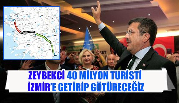 Zeybekci 40 milyon turisti İzmir'e getirip götüreceğiz