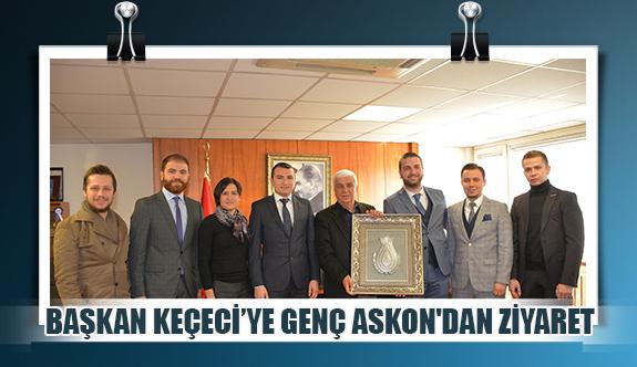 Başkan Keçeci'ye genç ASKON'dan ziyaret