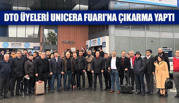 DTO üyeleri UNICERA fuarı'na çıkarma yaptı