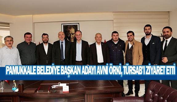 Pamukkale Belediye Başkan adayı Avni Örki, TÜRSAB'I ziyaret etti.