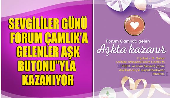 """Sevgililer günü Forum Çamlık'a gelenler aşk butonu""""yla kazanıyor"""