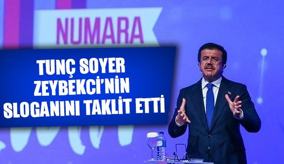 Tunç Soyer, Zeybekci'nin sloganını taklit etti
