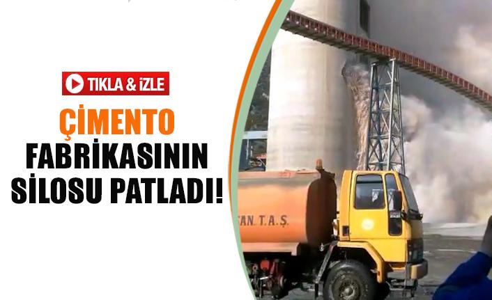 Çimento fabrikasının silosu patladı!