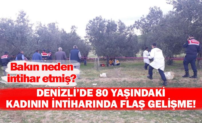 Denizli'de 80 yaşındaki kadının intiharında flaş gelişme!