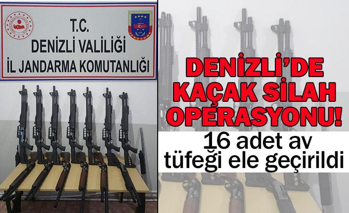 Denizli'de kaçak silah operasyonu!