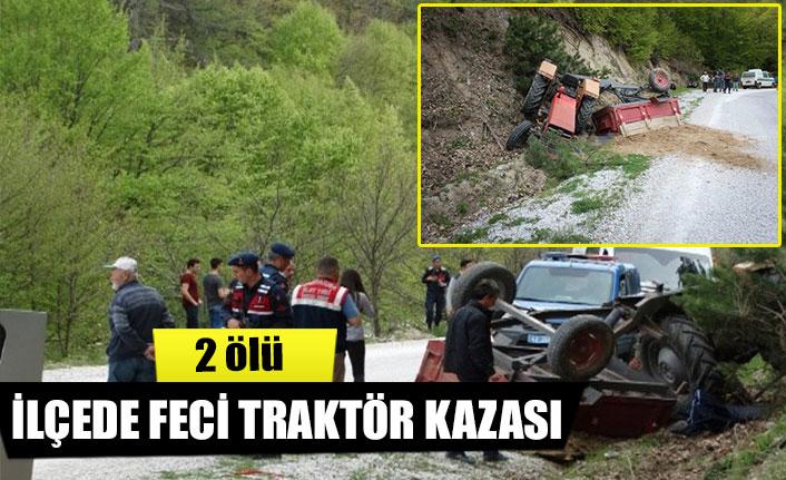 İlçede feci traktör kazası  2 ölü