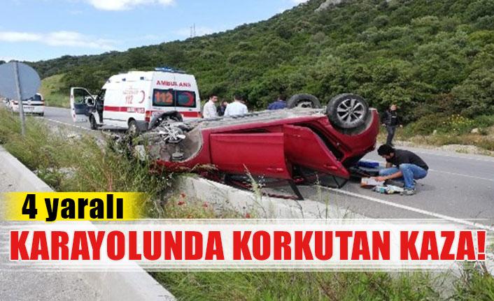 Karayolunda korkutan kaza!  4 yaralı