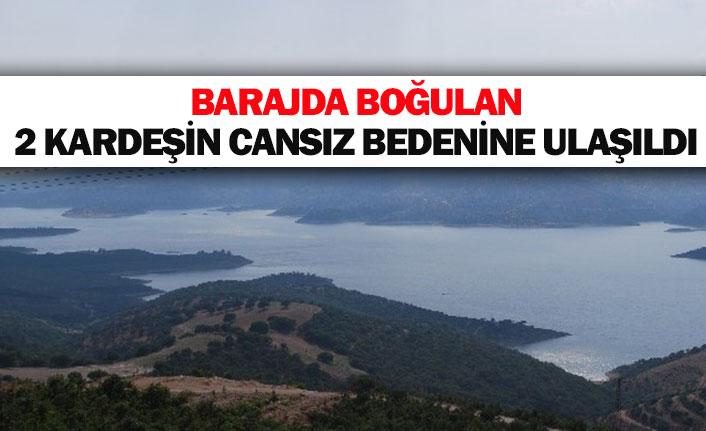Barajda boğulan 2 kardeşin cansız bedenine ulaşıldı
