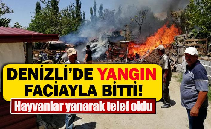 Denizli'de yangın faciayla bitti!