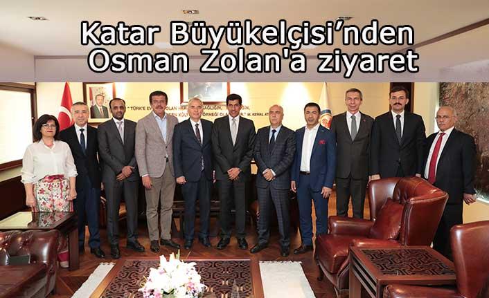 Katar Büyükelçisi'nden Osman Zolan'a ziyaret