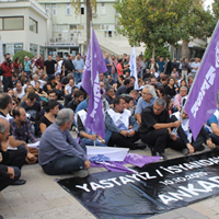 Ankara'daki terör eylemi  Denizli'de protesto edildi