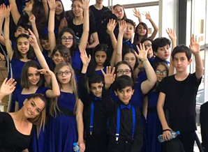Denizli final okulları barış çocukları korosu Ankara'da