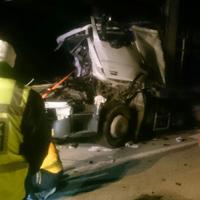 Afyonkarahisar'da İki tır çarpıştı: 1 ölü