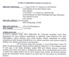 MHP'li başkan adayına suç duyurusu