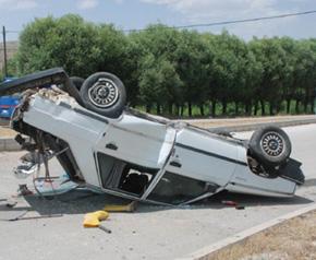 Afyonkarahisar'da trafik kazası 2 ağır yaralı