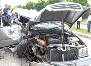 Denizli-Burdur Karayolunda Trafik kazası 4 Yaralı