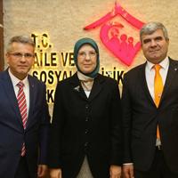 Şevkan, Ankara'da bir dizi ziyaretler gerçekleştirdi.