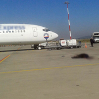 Havaalanında feci ölüm !