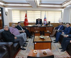 Başkan Erdoğan'a gazetecilerden ziyaret