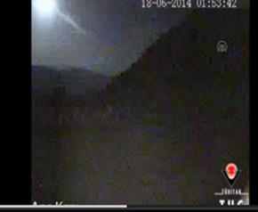 Afyonkarahisar 'a meteor düştü