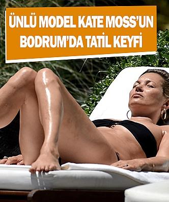Ünlü model Kate Moss'un Bodrum'da tatil keyfi