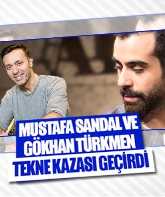Mustafa Sandal ve Gökhan Türkmen tekne kazası geçirdi