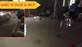 Denizli'de evleri su bastı