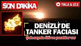 Denizli'de tanker faciası