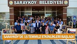 Sarayköy'de 15 Temmuz etkinlikleri başladı