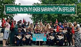 Festivalin en iyi ekibi Sarayköy'ün efeleri
