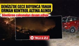 Denizli'de gece boyunca yanan orman kontrol altına alındı