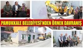 Pamukkale Belediyesi'nden örnek davranış