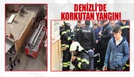 Denizli'de korkutan yangın!