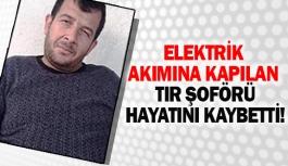 Elektrik akımına kapılan tır şoförü hayatını kaybetti!
