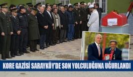 Kore gazisi Sarayköy'de son yolculuğuna uğurlandı
