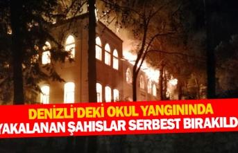 Denizli'deki okul yangınında yakalanan şahıslar serbest bırakıldı